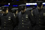New York police turn their backs to the mayor at an officer's funeral. Photo via